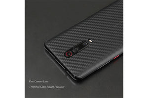 Ibywind Screen Protector for Xiaomi Mi 9T /Mi 9T Pro [Pack of 2] with Camera Lens Tempered Glass Protector,Back Carbon Fiber Skin Protector,Including Easy Install Kit