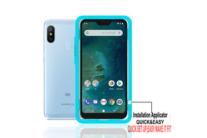 Ibywind Xiaomi Mi A2 Lite Screen Protector [Pack of 2]-3D Full Coverage Premium 9H Tempered Glass Screen Protectors with Easy Install Kit for Xiaomi Mi A2 Lite
