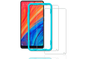 Ibywind Xiaomi Mi Mix 2S Screen Protector [Pack of 2] Premium Tempered Glass Screen Protectors with Easy Install Kit for Xiaomi Mi Mix 2S