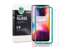 Ibywind Screen Protector for OnePlus 6 [Pack of 2] Premium 9H Tempered Glass Screen Protectors with Easy Install Kit-Transparent