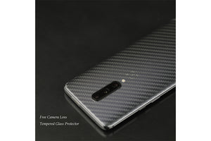 Ibywind Screen Protector for OnePlus 7 Pro [Pack of 2][9D Full Curved] with Camera Lens Tempered Glass Protector,Back Carbon Fiber Skin Protector,Including Easy Install Kit