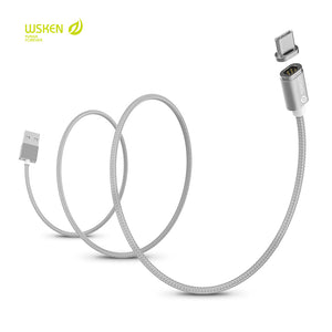 WSKEN Mini 2 Magnetic Charger Cable with LED Indicator Light For iPhone lightning Android Type-C Samsung Huawei Xiaomi