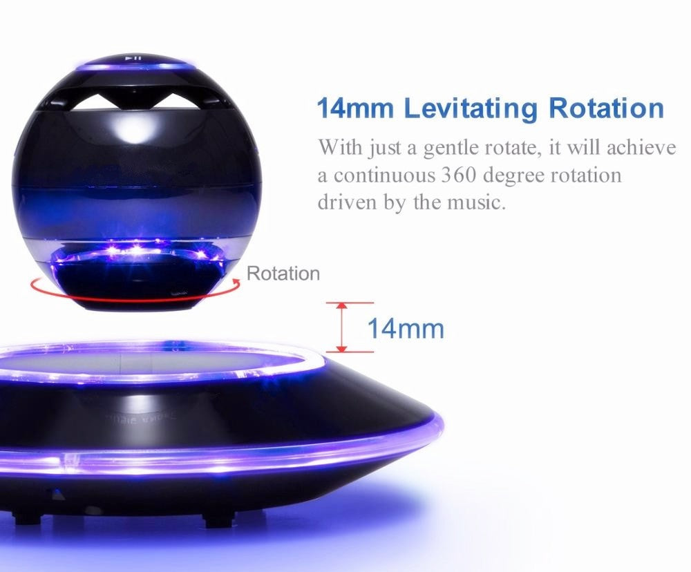 Wireless Maglev Bluetooth Speaker With Led Flash Magnetic