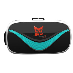 "Original UGP 3D VR Glasses Virtual Reality VR Box For 3.5~6"" inch Smartphones iphone Samsung Huawei Xiaomi for 3D Movies and Games, Adjustable Strap"