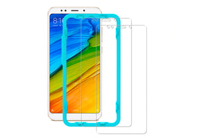 [2PCS PACK] Redmi 5 Plus SCREEN PROTECTOR,**BUBBLE FREE INSTALLATION APPLICATOR** FLOS TEMPERED GLASS SCREEN PROTECTOR [ANTI-FINGERPRINT] FOR Redmi 5 Plus -TRANSPARENT