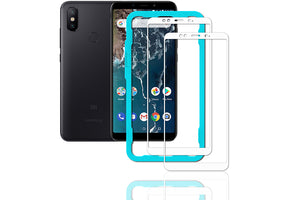 Ibywind Xiaomi Mi A2 Screen Protector [Pack of 2]-3D Full Coverage Premium 9H Tempered Glass Screen Protectors with Easy Install Kit for Xiaomi Mi A2