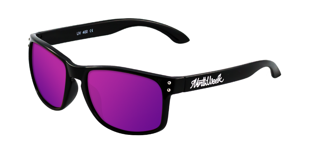 OU BOLD SHINE BLACK - PURPLE POLARIZED