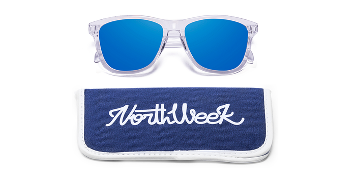 SS16 BRIGHT WHITE - BLUE POLARIZED con funda