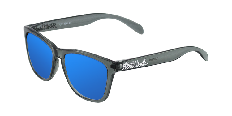 REGULAR BRIGHT GREY - BLUE POLARIZED