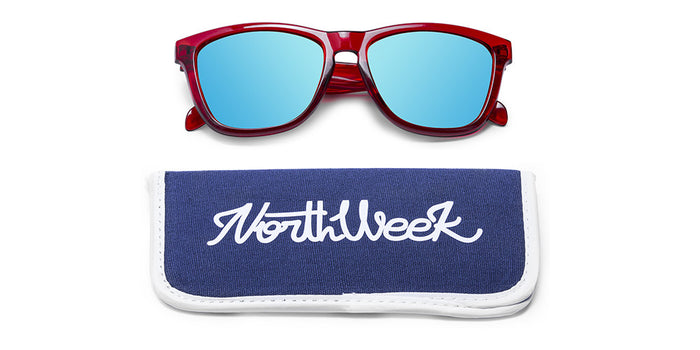 BRIGHT RED - ICE BLUE POLARIZED