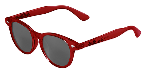 OU CIRCLE BRIGHT RED - SILVER POLARIZED