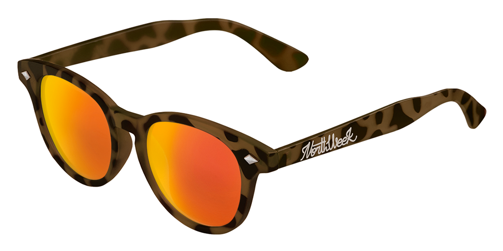 OU CIRCLE TORTOISE BROWN - ORANGE POLARIZED