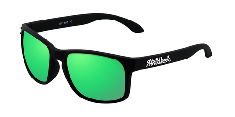 BOLD MATTE BLACK - GREEN POLARIZED
