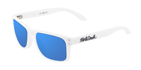 BOLD MATTE WHITE - BLUE POLARIZED