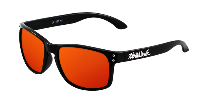 Gafas de sol polarizadas BOLD SHINE BLACK - RED POLARIZED