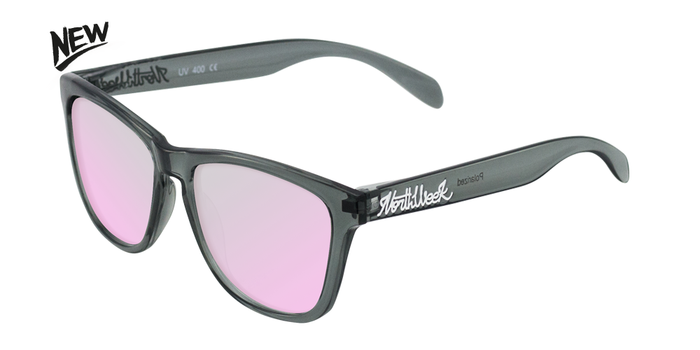 Gafas de sol polarizadas BRIGHT GREY - ROSE GOLD POLARIZED