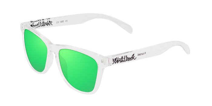 Gafas de sol polarizadas BRIGHT WHITE - GREEN POLARIZED