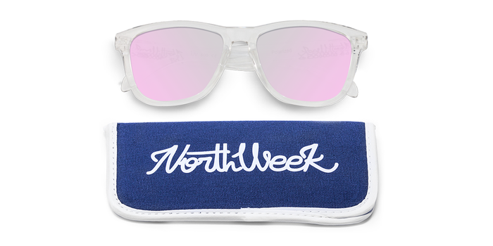 Gafas de sol polarizadas BRIGHT WHITE - ROSE GOLD POLARIZED con funda
