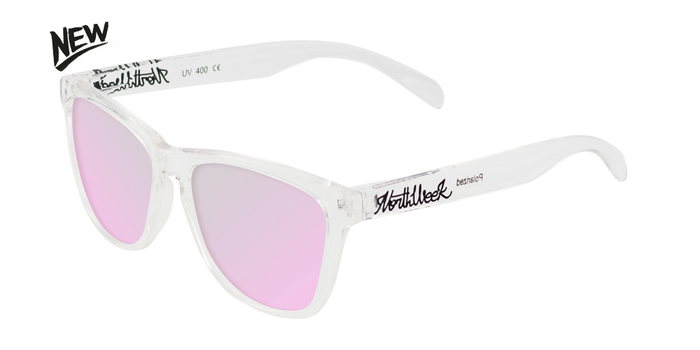 Gafas de sol polarizadas BRIGHT WHITE - ROSE GOLD POLARIZED