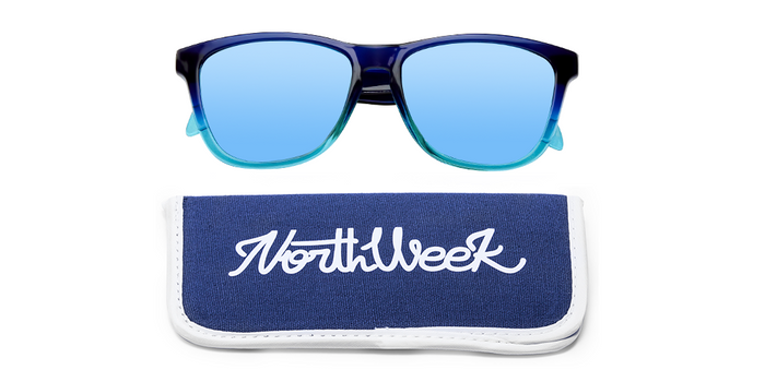 Gafas de sol polarizadas GRADIANT BRIGHT BLUE - BLUE POLARIZED con funda