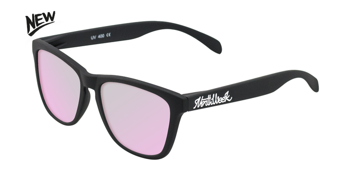 Gafas de sol polarizadas MATTE BLACK - ROSE GOLD POLARIZED