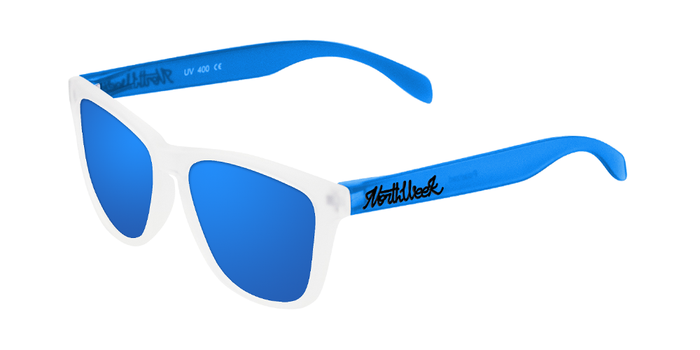 Gafas de sol polarizadas SMOKY WHITE & BLUE - BLUE POLARIZED
