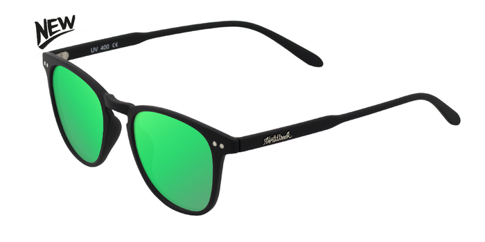 Gafas de sol polarizadas WALL MATTE BLACK - GREEN POLARIZED