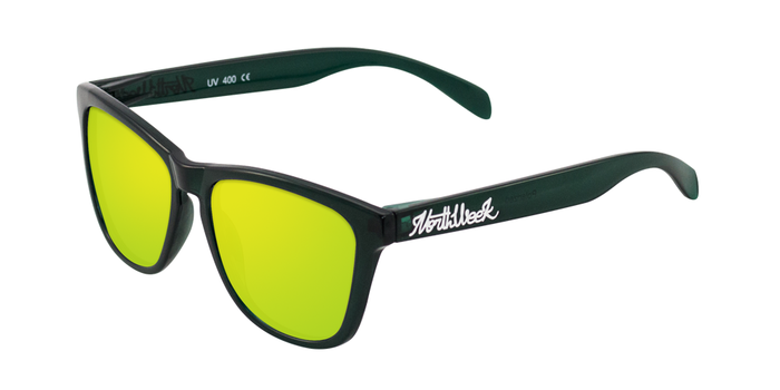 Gafas de sol polarizadas XS16 | DARK GREEN - GOLD