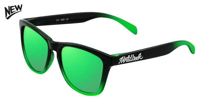 AW17 | GRADIANT SHINE BLACK - GREEN POLARIZED