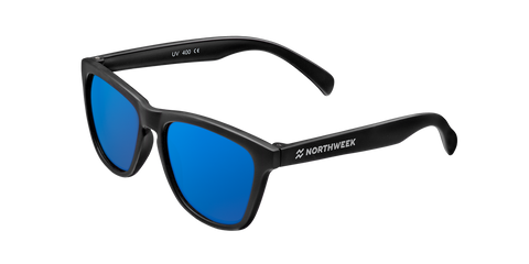 KIDS MATTE BLACK - BLUE POLARIZED