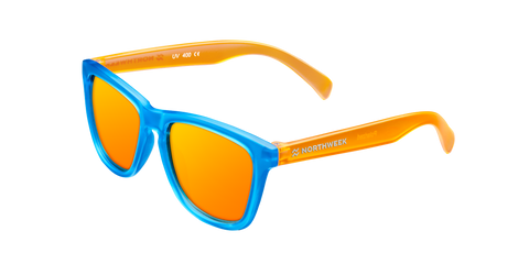 KIDS SMOKY BLUE & ORANGE - ORANGE POLARIZED