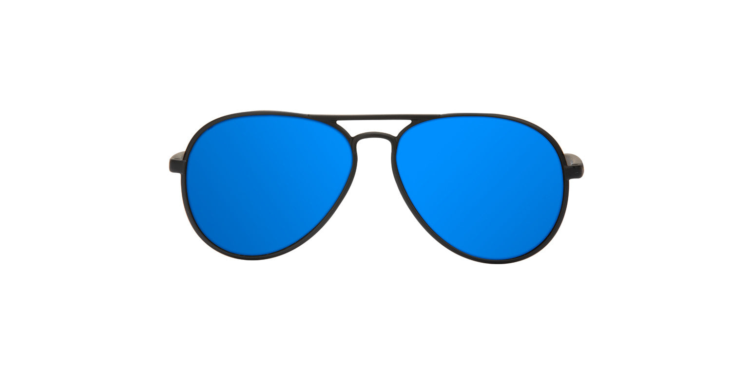 YAW MATTE BLACK - BLUE POLARIZED