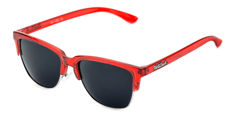 Old School Bright Red - Black Polarized