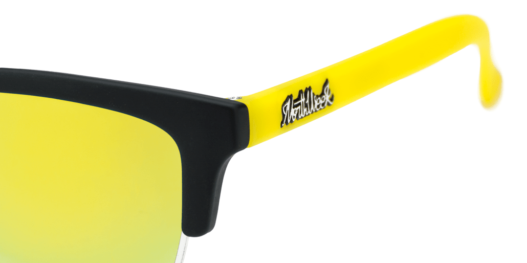 Old School Matte Black & Yellow - Gold Polarized