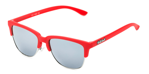 Old School Matte Red - Silver Polarized