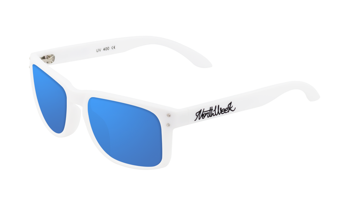 OU BOLD MATTE WHITE - BLUE POLARIZED
