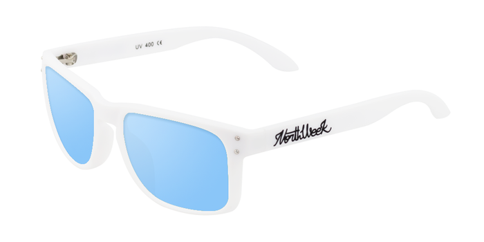 OU BOLD MATTE WHITE - ICE BLUE POLARIZED
