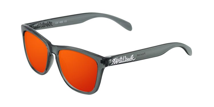 REGULAR BRIGHT GREY - RED POLARIZED