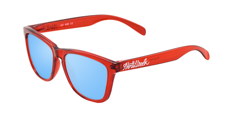 REGULAR BRIGHT RED - ICE BLUE POLARIZED