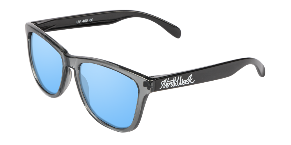 OU BRIGHT GREY & SHINE BLACK - ICE BLUE POLARIZED