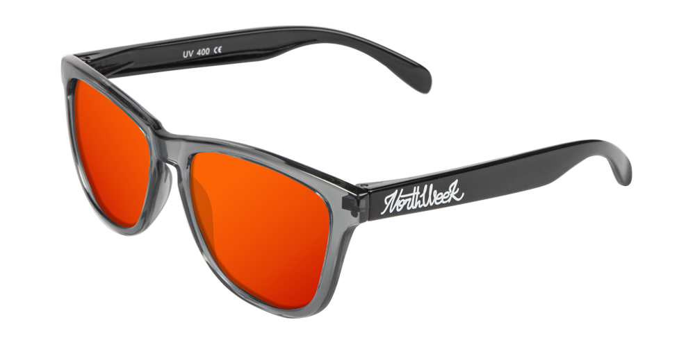 OU BRIGHT GREY & SHINE BLACK - RED POLARIZED