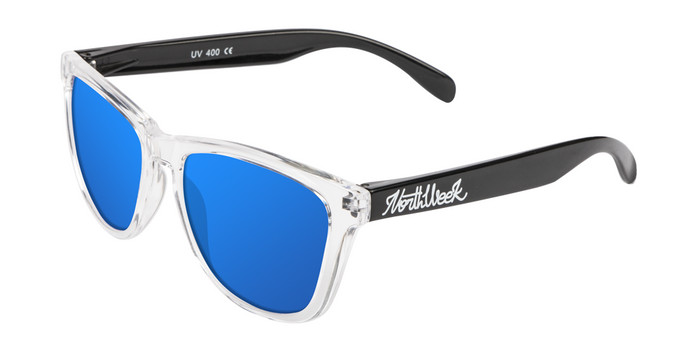 OU BRIGHT WHITE & SHINE BLACK - ICE BLUE POLARIZED