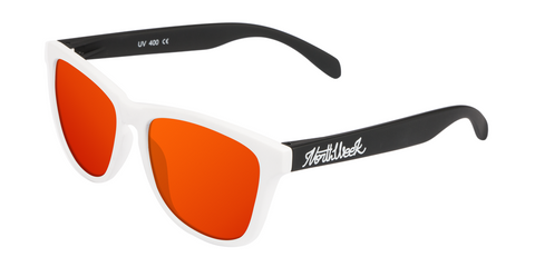 OU MATTE WHITE & MATTE BLACK - RED POLARIZED