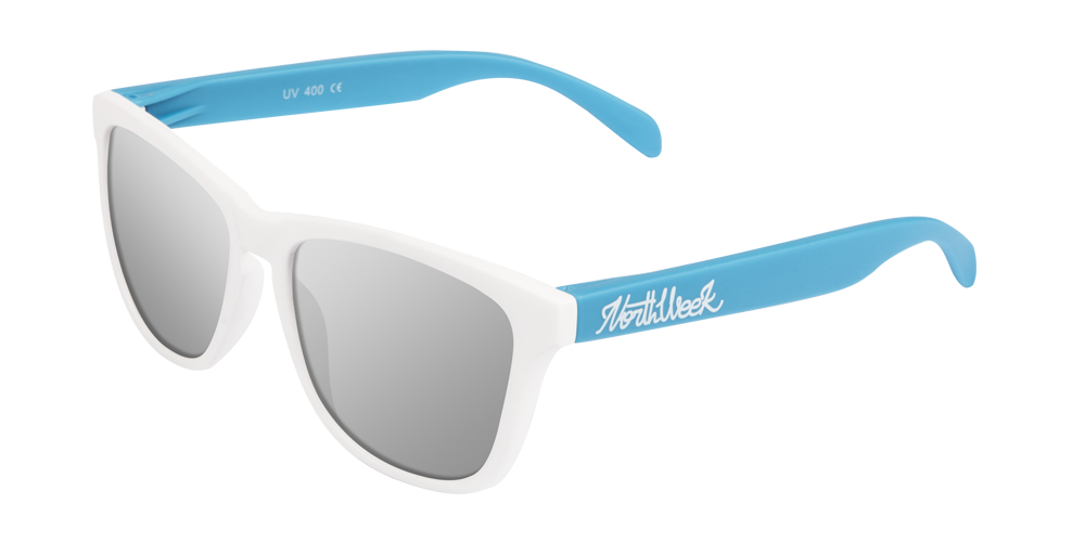 OU MATTE WHITE & MATTE BLUE - SILVER POLARIZED