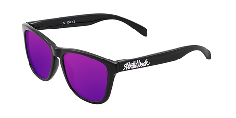 REGULAR SHINE BLACK - PURPLE POLARIZED