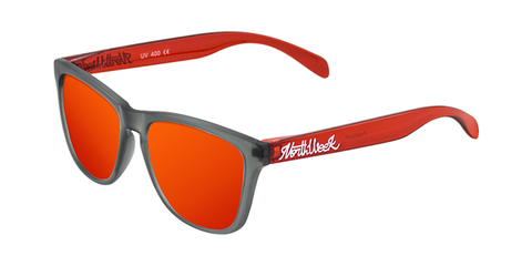 REGULAR SMOKY GREY & BRIGHT RED - RED POLARIZED