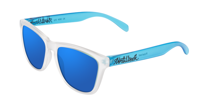 OU SMOKY WHITE & SMOKY BLUE - BLUE POLARIZED