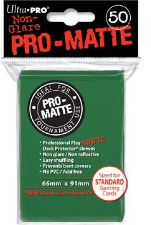 Pro Matte Green Deck Protector Sleeve