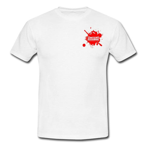 Mens WHITE with Red