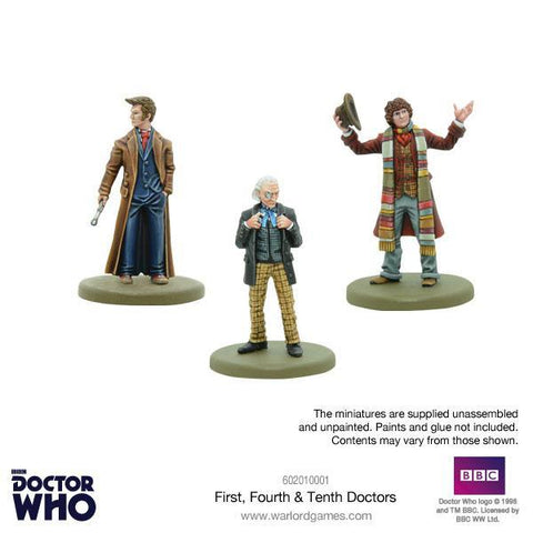 1st, 4th & 10th Doctor Set